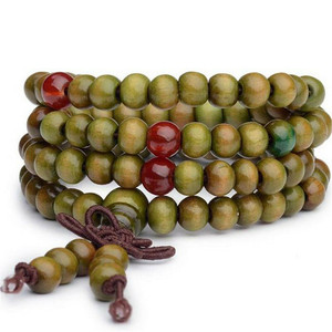 Image 5 - 1pc Sandalwood Buddhist Meditation Prayer Bead Mala Bracelet