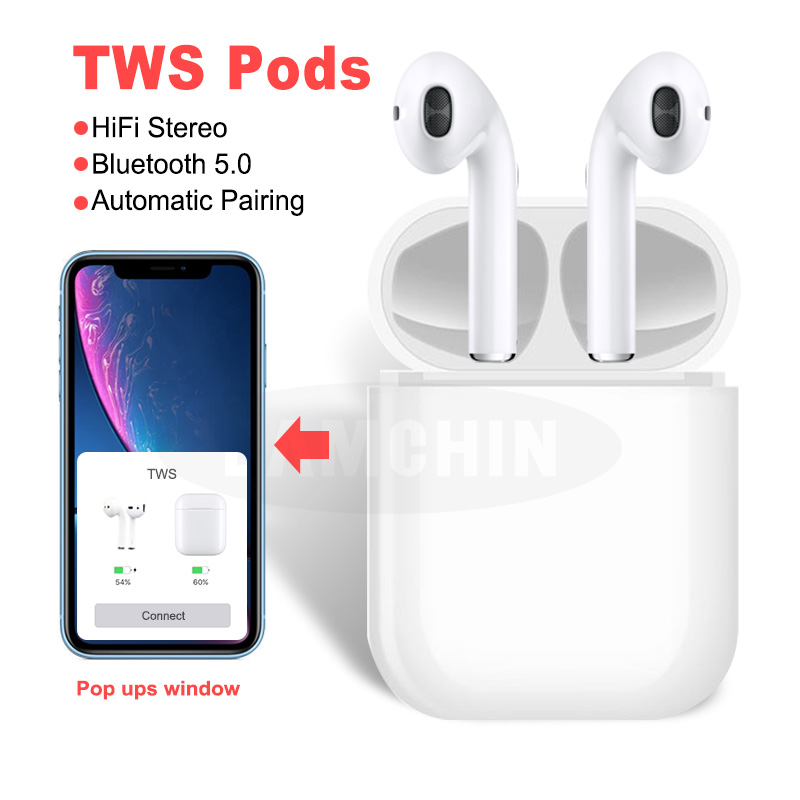 Mini TWS True Wireless Bluetooth Earphone Stereo Sport Earbuds Dual Earphones With Mic For Apple Android With Charging Box