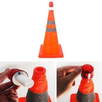 New Telescopic Traffic Cone Car Warning Sign Roadblock Reflective Cone Roadside Emergency Triangular Safety Sign Export 1