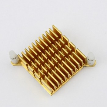 100PCS LOT 39mm x 39mm X 13mm Golden Aluminium Cooler Heatsink For PC Northbridge Chipset Cooling