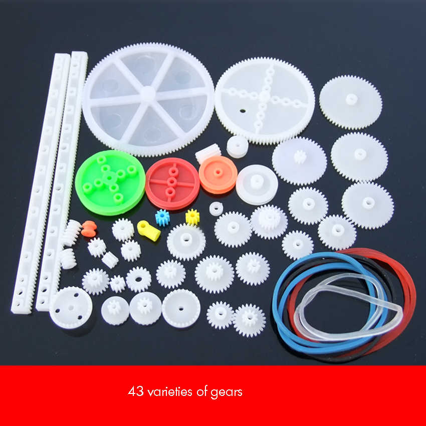 64 New Gear Packs DIY Parts Motor Gear Set for DIY Electric Toys
