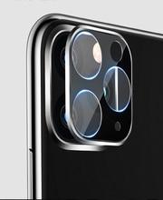Iphone 11 3D フルバックカメラレンズ iphone 11 プロマックス 2019 強化ガラスフィルムアルミ金属レンズケース
