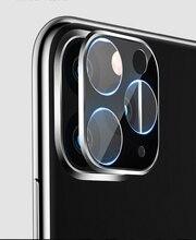 Para o iphone 11 3d completa voltar lente da câmera protetor de tela para o iphone 11 pro max 2019 vidro temperado filme de alumínio lente do metal caso