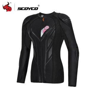 Image 1 - SCOYCO Motorrad Jacke Frauen Jaqueta Motociclista Motocross Schutz Jacke Motocross Rüstung Racing Körper Rüstung Jacke