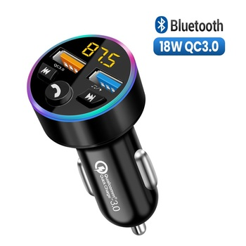 Qc3.0 Car Charger Fm Transmitter Car Bluetooth 5.0 Stereo Autoradio Wireless Handsfree Mp3 Player 3.1a Dual Usb Fast Charger image