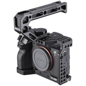 Image 4 - VIJIM CA 02 アルミ合金カメラケージソニー A7R4 ソニー A7R iv コールドシューマウント Arri ポジショニング穴 1/4 3/8 スレッド