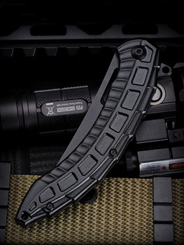 New Black Alien Keel Folding Blade Pocket CS Go Knife Hunting Camping Knives Military Self Defense Survival Tool For Man Women 6