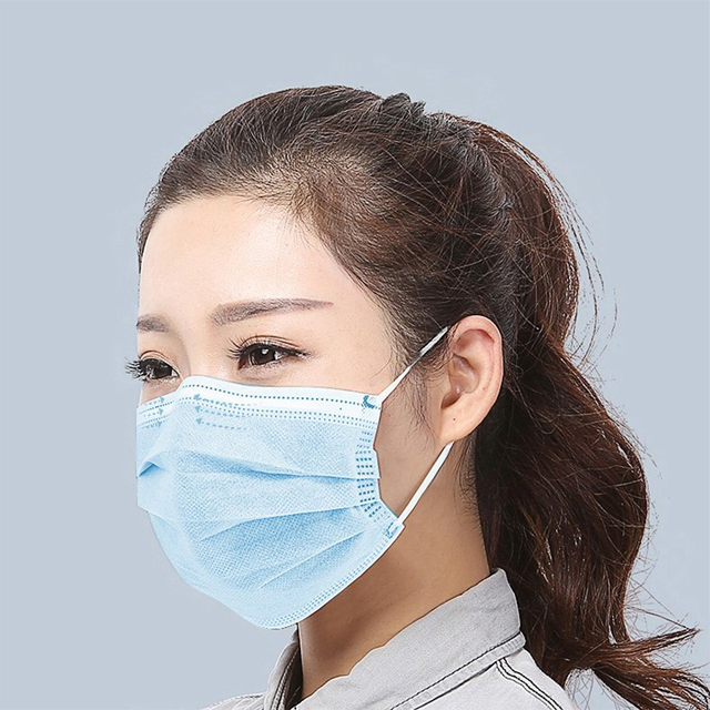 3 layer Face Masks Non-woven Disposable Breathable Mouth Masks Safe Waterproof Face Mouth Masks 1