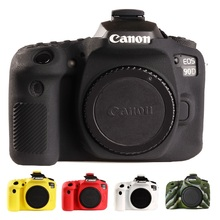 Capa de silicone para câmera canon 90d, capa protetora para câmera canon eos 90d de alta qualidade, litchi tampas da câmera