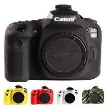 Dla Canon 90D pokrowiec kamery silikonowy futerał ochronny dla Canon EOS 90D wysokiej jakości liczi tekstury antypoślizgowy pokrowiec kamery s