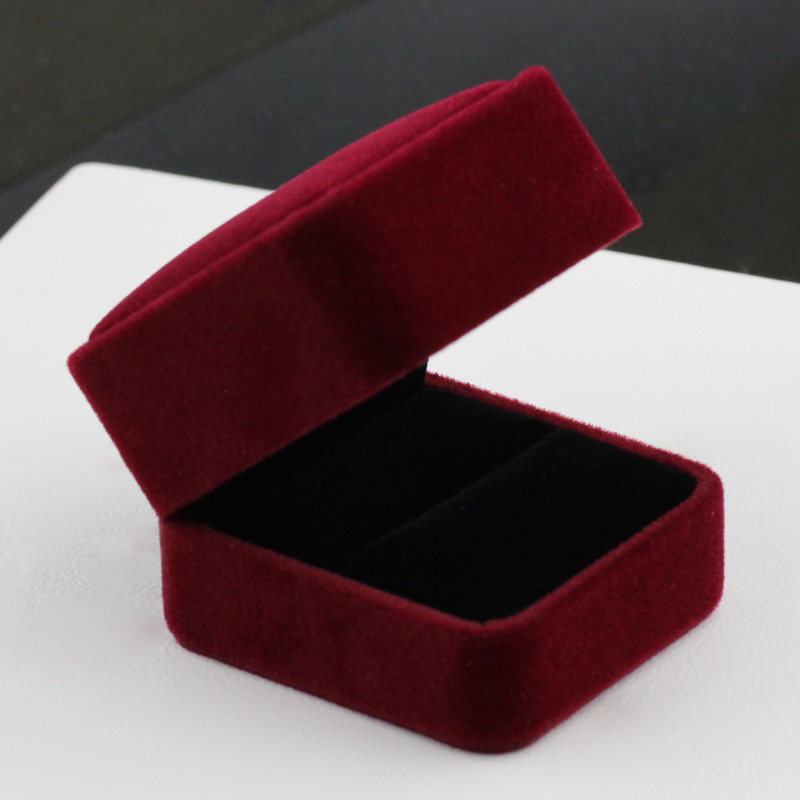 Fine Silver Accessories Gift Box Velvet Ring Box Er Ding He Couples Gift Box Fine Silver Accessories