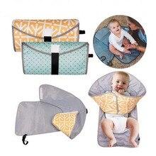 Портативный Складной Детский водонепроницаемый коврик для мочи 3-1 Пеленки сцепления пеленки обмен подгузник 10-12 7-9 4-6 0-3 месяцев