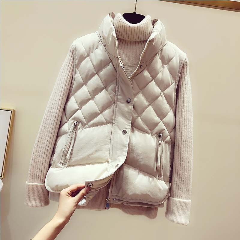 Cheap Wholesale 2019 New Autumn Winter  Hot Selling Women's Fashion Casual Female Nice Warm Vest Outerwear BP890