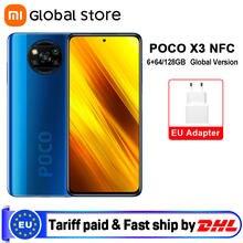 Versão global xiaomi poco x3 nfc 6gb 64gb/6gb 128gb smartphone snapdragon 732g octa núcleo 64mp quad câmera 6.67