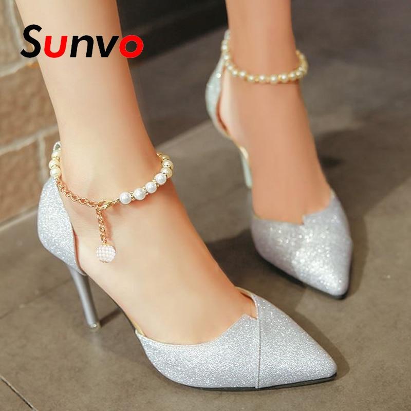 Pearl Shoelaces For Women High Heels Shoes Laces Bundle No Tie   Lace Anti-skid Straps Band Ankle Shoe Decoration Accessories