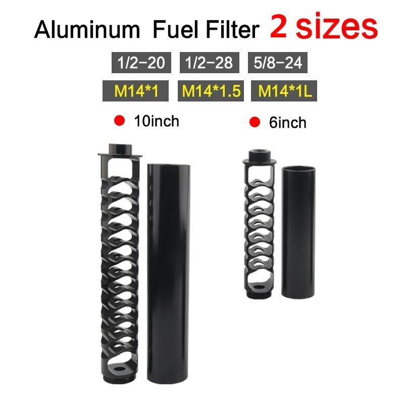 Новый одножильный алюминиевый топливный фильтр 1/2-20 1/2-28 5/8-24 6 дюймов 10 дюймов, ловушка для растворителя для NAPA 4003 WIX 24003