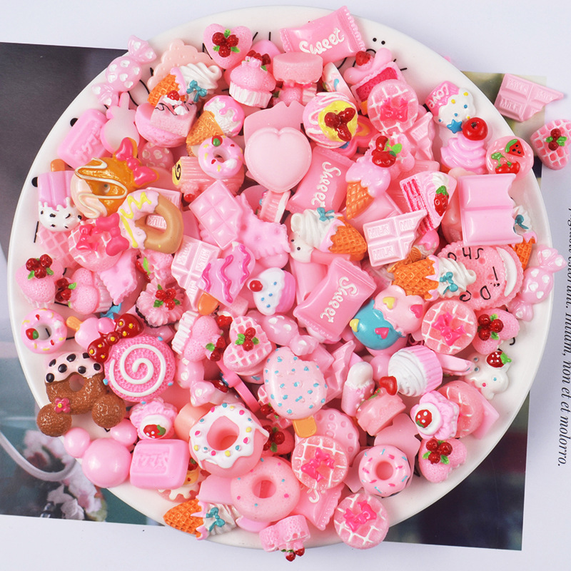 DIY Chocolate Sprinkles Charms For Slime Polymer Filler Addition Slime Accessories Toys Lizun Modeling Clay Kit For Kids
