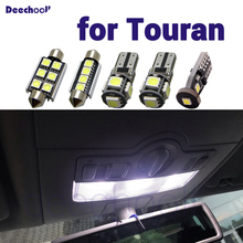 أبيض نقي Canbus خطأ مجاني LED الداخلية قبة خريطة أضواء لمبات عدة ل Volkswagen ل VW Touran 1T1 1T2 1T3 2003 2015