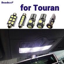 Pure White CANbus ข้อผิดพลาดฟรี LED ภายในโดมแผนที่หลอดไฟสำหรับโฟล์คสวาเกนสำหรับ VW Touran 1T1 1T2 1T3 2003 2015