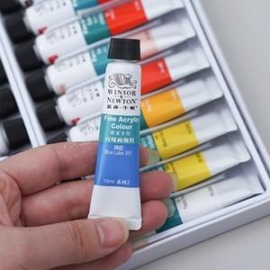 Image 5 - WINSOR&NEWTON 10ML 12/18/24 Colors Professional Acrylic Pigment Set Fabric Textile Paint Brightly Colored Craft Paints Pigments