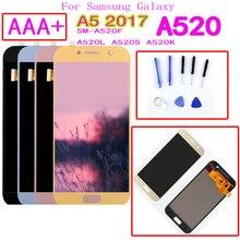 AAA + для Samsung Galaxy A5 2017 A520F SM-A520F A520 ЖК-дисплей сенсорный экран дигитайзер стекло в сборе запасные части