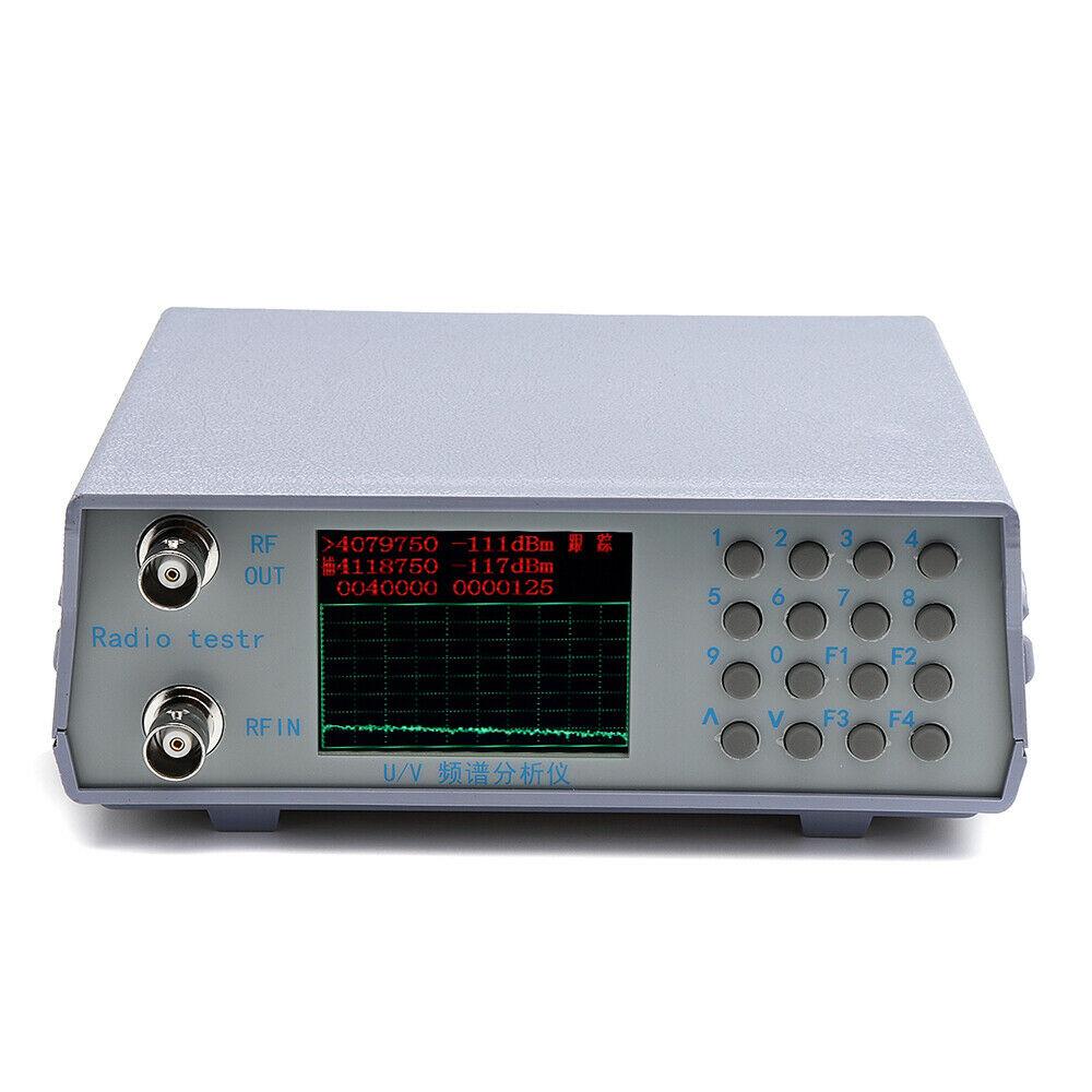 Free Shipping U/V UHF VHF Dual Band Spectrum Analyzer Simple Spectrum Analyzer With W/Tracking Source 136-173MHz / 400-470MHz