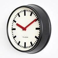 Relógio de parede luxo moderno retro americano sala estar nórdico preto silencioso relógios decoração da sua casa presente fz698