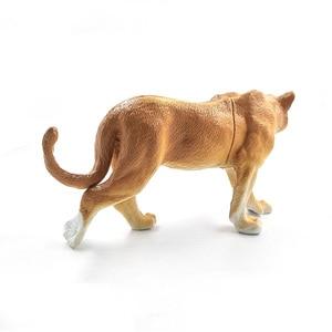 Image 4 - Sztuczny lew las model zwierzęcia realistyczne figurka home decor figurka prezent edukacyjny dla dzieci plastikowa zabawka