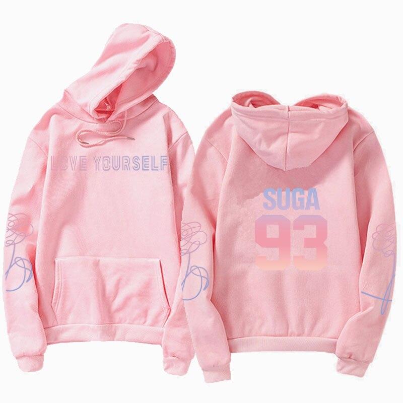jungkook Unisex hoody kpop suga93 hoodies love KPOP weatshirt love yourself KPOP hoody sweatshirt  harajuku hoodies 17