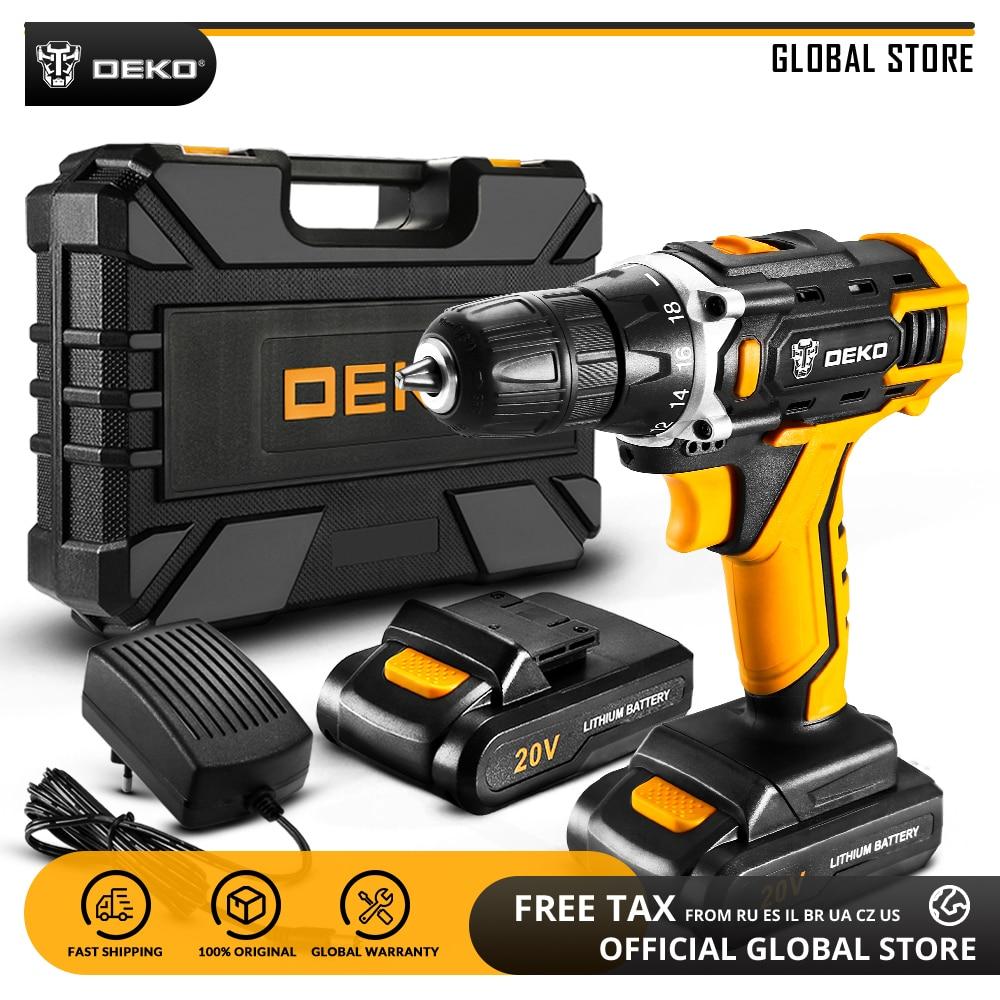 DEKO-Destornillador eléctrico Banger de 12V, taladro inalámbrico con batería de litio, herramienta eléctrica para carpintería, Loner de 16V, Sharker de 20V, nuevo
