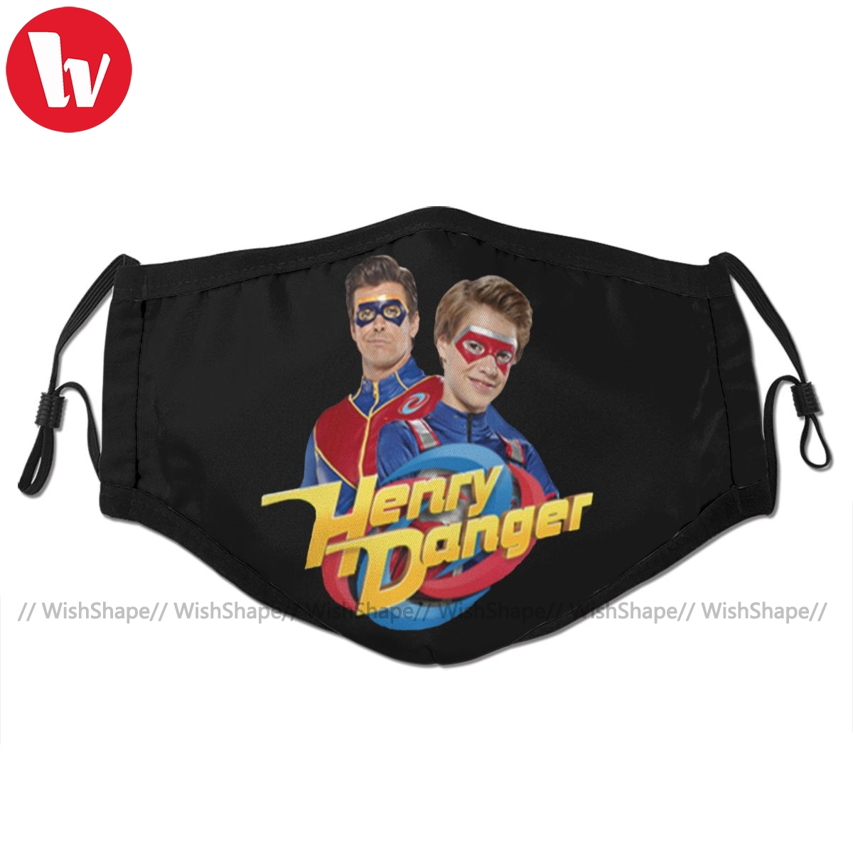 Henry Danger Mouth Face Mask Henry Danger And Captain Man Facial Mask Kawai Cool With 2 Filters For Adult