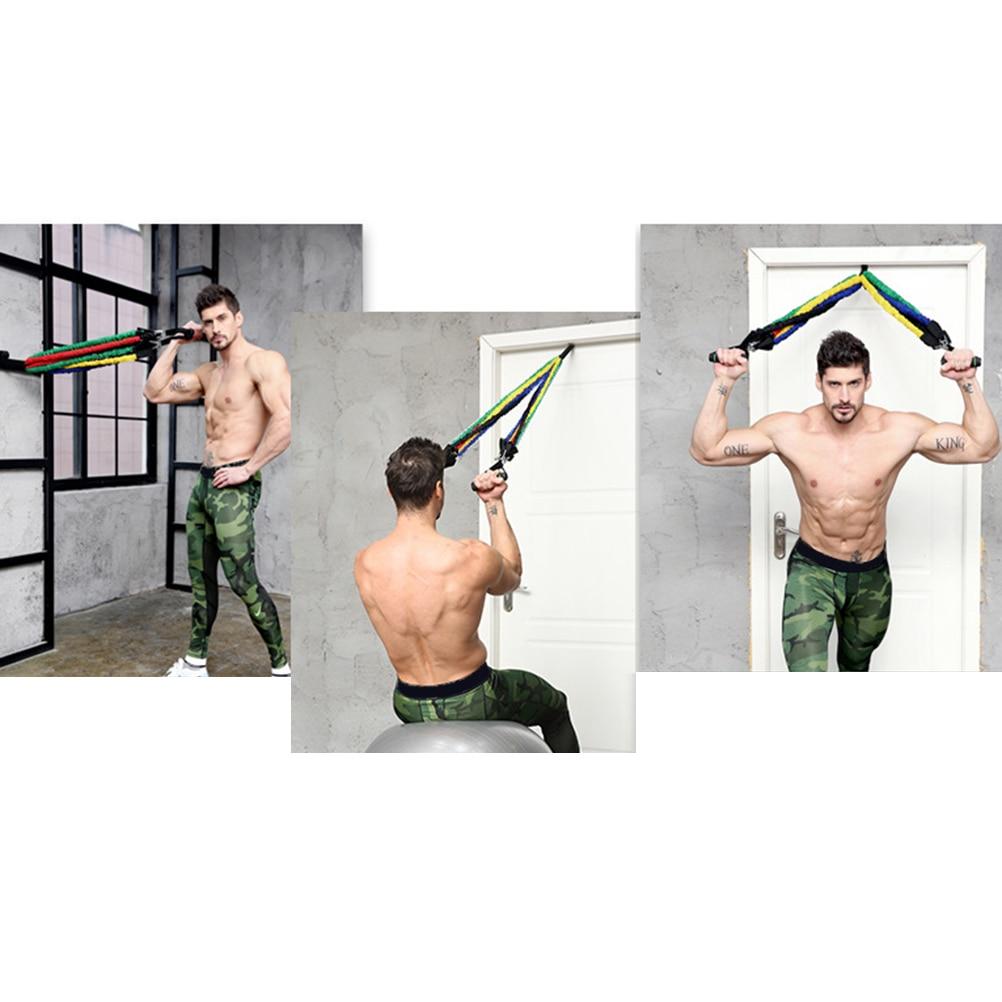 11 pçs resistência faixas de látex pilates