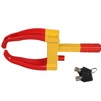 Car Truck Tire Lock Anti-Theft Lock Portable Heavy Duty Wheel Clamp Lock Tire Claw Trailer Auto Universal fitment Car Accessorie