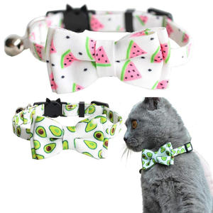Bow-Tie Breakaway Bell Cat-Collar Kitty Adjustable Safety Plaid-Design with And