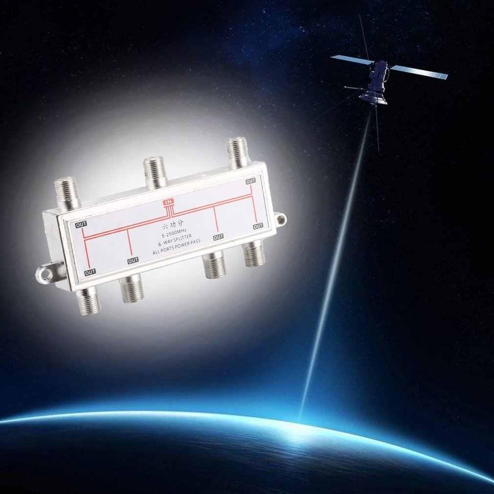 6 ウェイ衛星アンテナケーブルテレビ信号スプリッタディストリビュータため SATV/CATV 5-2400MHz 衛星放送受信機 SATV/CATV