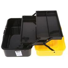 Boîte de rangement doutils pliants à 3 couches, boîte à outils multifonction pour réparation de voiture, conteneur épaississant tiges pliantes