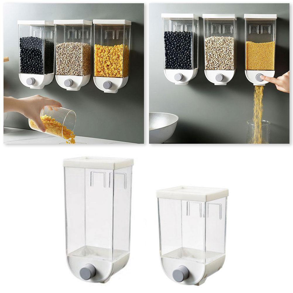 1000ml/1500ml Oatmeal Dispenser Grain Storage Box Wall-mounted Gadgets Kitchen Tank Storage Container Grain Cereal T9O1