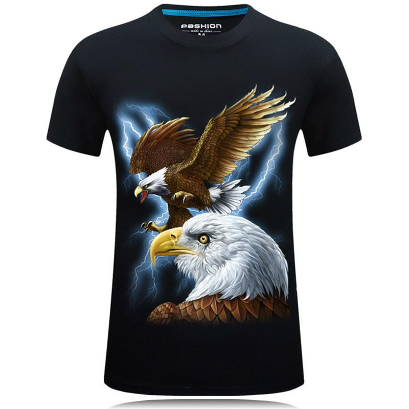 Nice Summer Fashion 3D Funny T Shirts Men Animal Printed Cotton Short Sleeve O Neck T shirts Punk Male Tops Tees Camisetas 7XL - 5