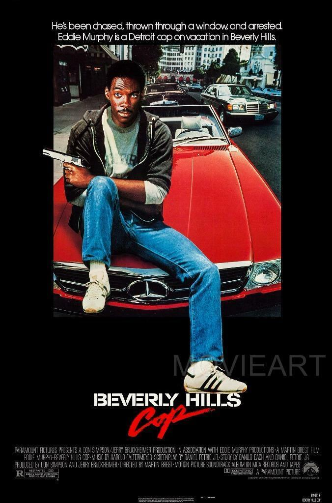 BEVERLY HILLS COP EDDIE MURPHY MOVIE SILK POSTER Wall painting 24x36inch image