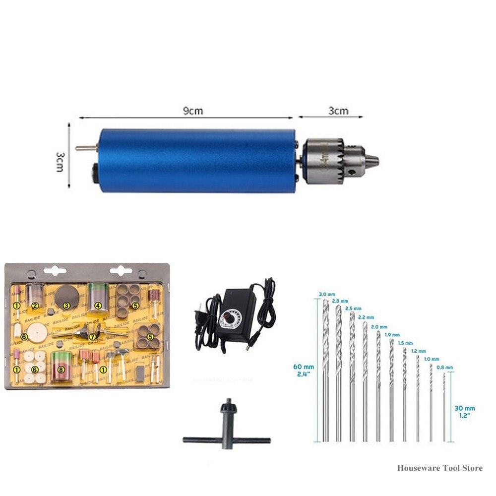 Регулируемая электрическая ручная дрель DC3V-12V двигатель печатной платы пресс для сверления компактный набор 0,3-4 мм JT0 патроны DIY Деревообраб...