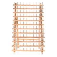 Składane 120 osie rama szpula regał magazynowy szpulka do szycia szpulka może być umieszczona na stole lub zawieszona na ścianie tanie tanio CN (pochodzenie) Drewno PODŁUBAĆ Pakiet