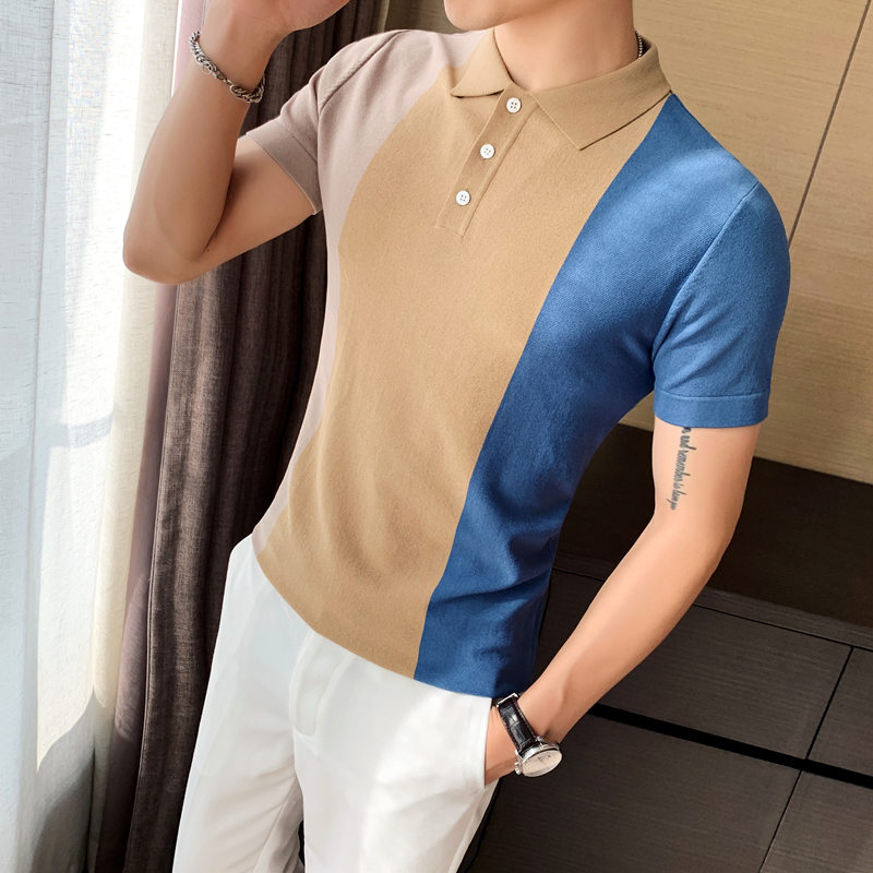 High Quality Slim Fit   Polo   Shirt Men Short Sleeve Casual Breathable   Polo   Homme Streetwear Fashion Men   Polo   Shirt Knitting   Polo
