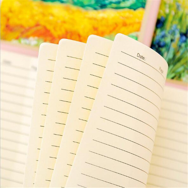 1pcs Simple A5 oil painting notepad Cute student portable 32K diary notebook soft surface copy learning office supplies