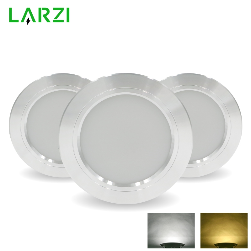 LED Downlight Silver Ultra Thin Aluminum  5W 9W 12W 15W 18W Down Light 220V 230V 240V Round Recessed Spot Lighting