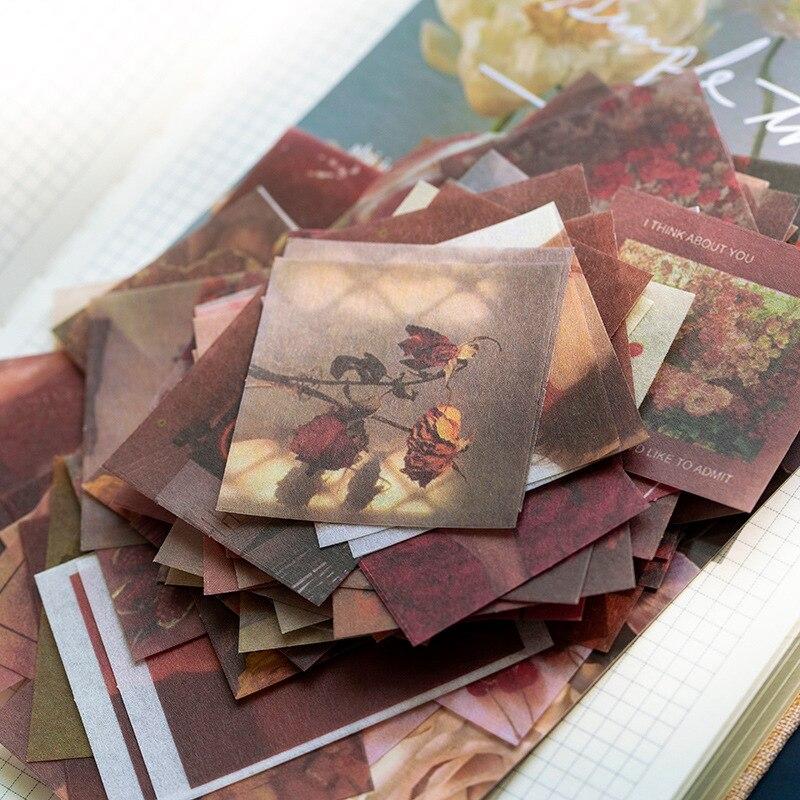 100pcs/tasche Vintage schmetterling anlage INS stil aufkleber paket DIY tagebuch Kugel Journal dekoration aufkleber album scrapbooking