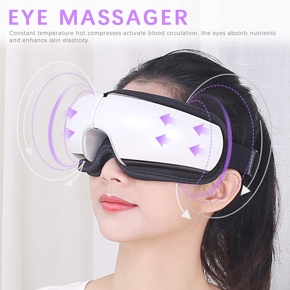 SPA Bluetooth Eyes Massager Vibration Electric Music Collapsible Air Pressure Heating Eye Care Instrument Eye Fatigue Massage