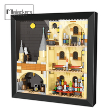 Mailackers Art Ideas Movie Big-Bang Theory City House Wall Picture Frame Creator Magic School Castle Decor Toys Building Blocks