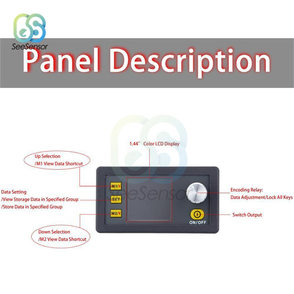 Tools : DP50V5A DPS3003 Constant Voltage Current DC-DC Step-down Communication Power Supply Buck Module Voltage Converter LCD Voltmeter