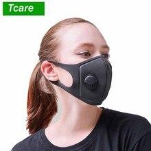 Máscara de contaminación antipolvo de grado militar y máscara de contaminación de humo con correas ajustables y máscara respiradora lavable hecha