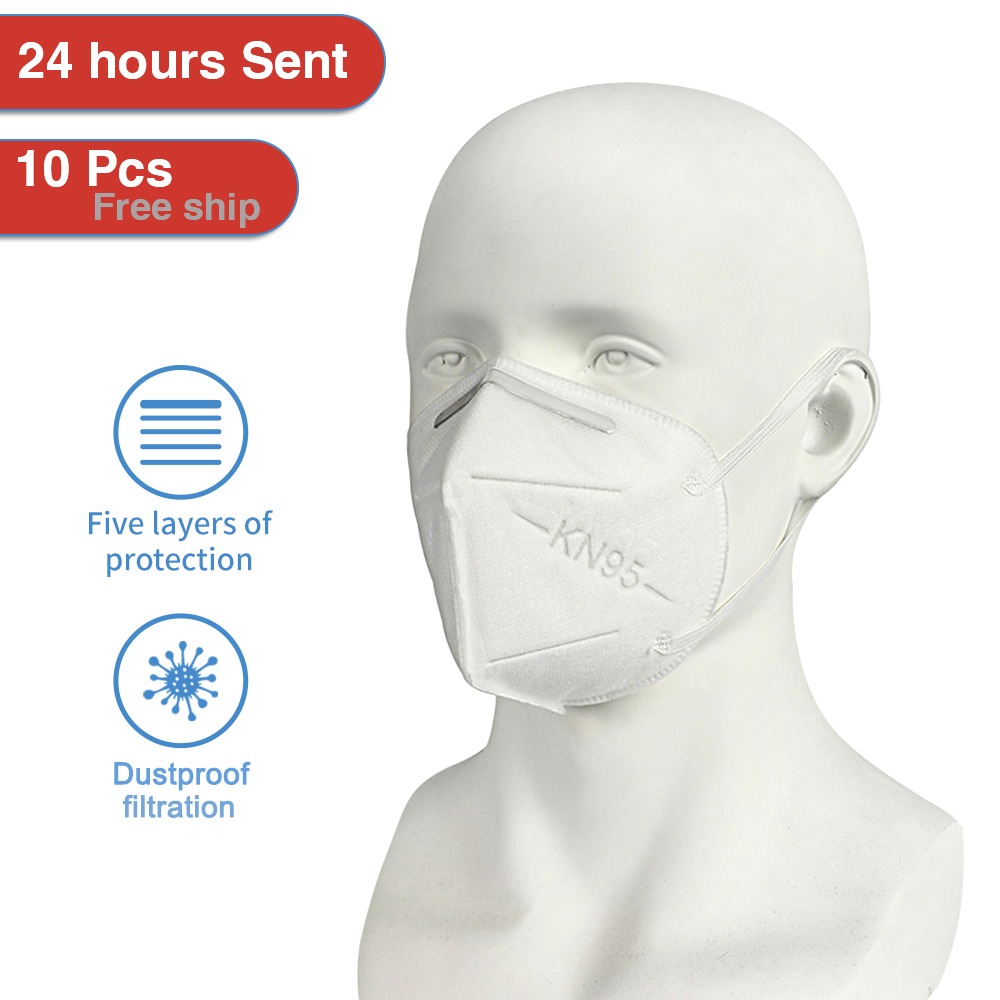 Image 2 - 50Pcs Face Protective Mask 5 Ply Anti Dustproof Facial Anti Haze  Anti Dust Mask Profession Safety Earloop N95 KN95 Fast deliveryMasks
